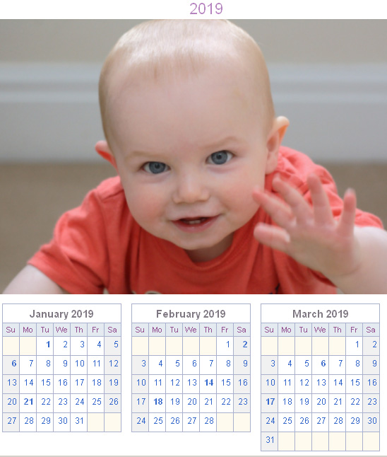 calendar generator printable photo and age calendar whenmybaby