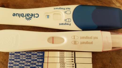 Clearblue Plus Pregnancy Test, 11 DPO, CD 27