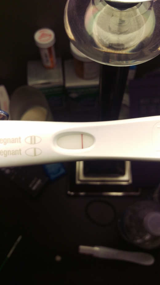 First Response Early Pregnancy Test, 12 DPO, FMU
